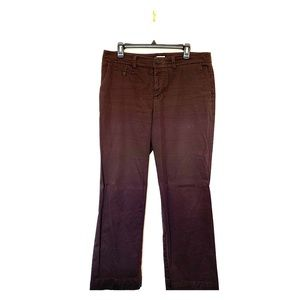 Merona Ultimate Chocolate Brown Khaki Pants Sz 12